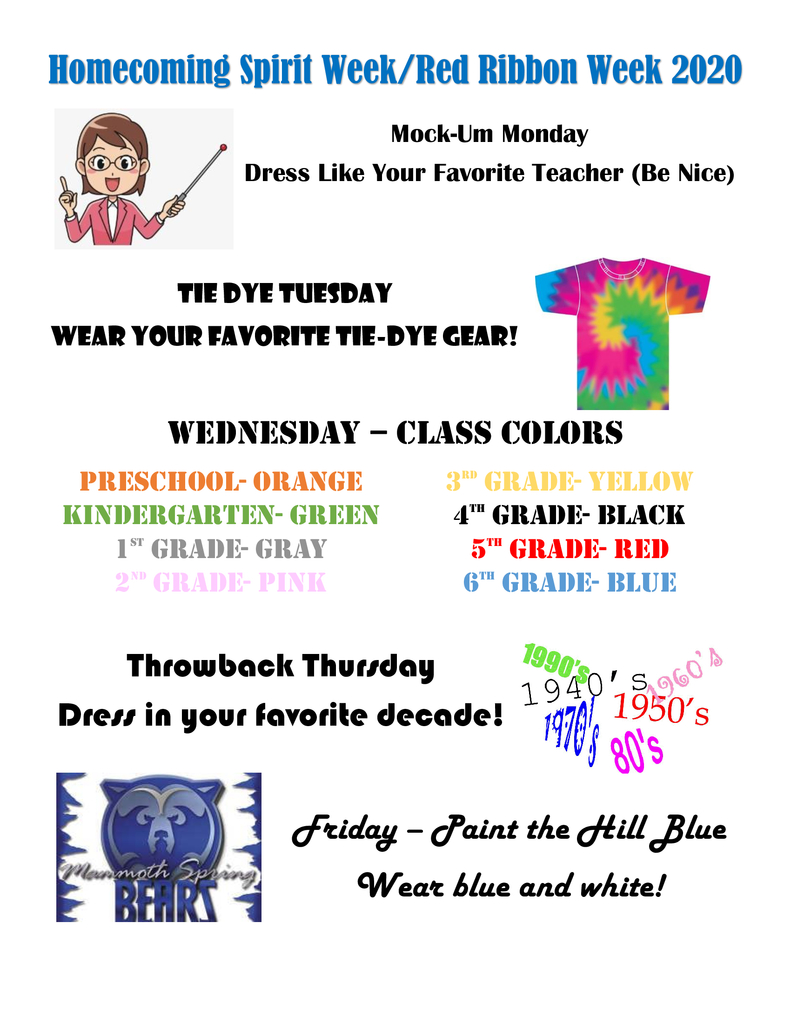 spirit week elem